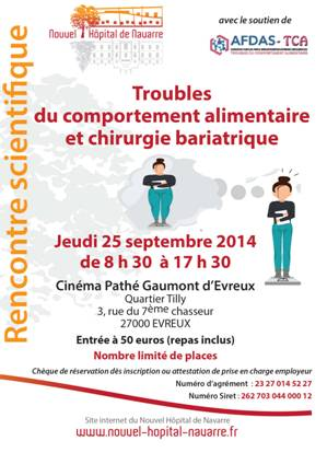 journ e troubles du comportement alimentaire et de la chirurgie bariatrique 25 septembre 2014. Black Bedroom Furniture Sets. Home Design Ideas