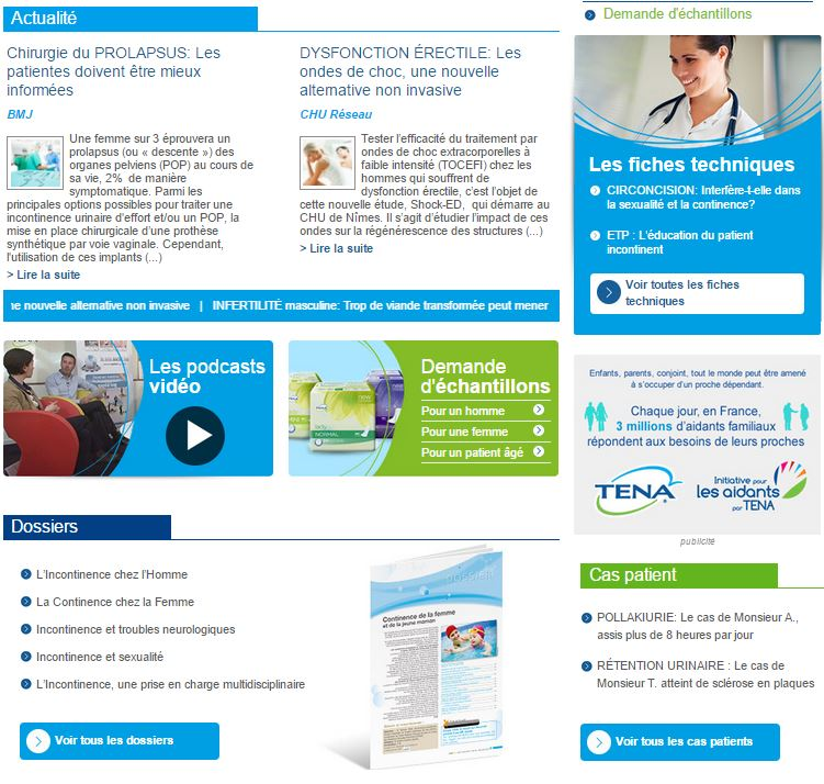 Site Urologie - Incontinence
